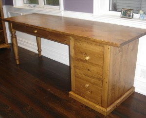 Desk w Turn Leg and File Drawer - Custom Sizes