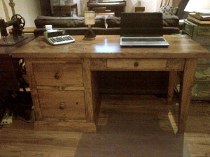Office Desk 5 ft x24x30. Pine Shaker Leg w File Drawers. Custom sizes avail