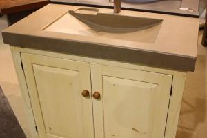 090 Vanity - Paneled front - custom sizes - custom concrete sink