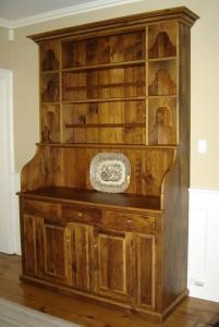 Custom vintage pine hutch 52x21x84