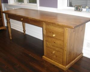 Desk w Turn Leg and File Drawer - Custom Sizes