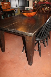 Rustic Contemporary Table w 5 inch Shaker Legs 6 ft x 38 inch