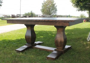 Double Spanish Pedestal Dining Table 60x40x30 custom available