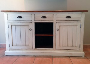 Server sideboard w vintage white finish 62x20x32